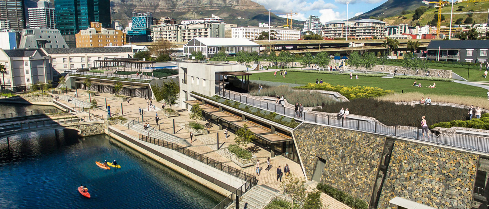 dhk completes urban park in Cape Town that references historic Amsterdam Battery