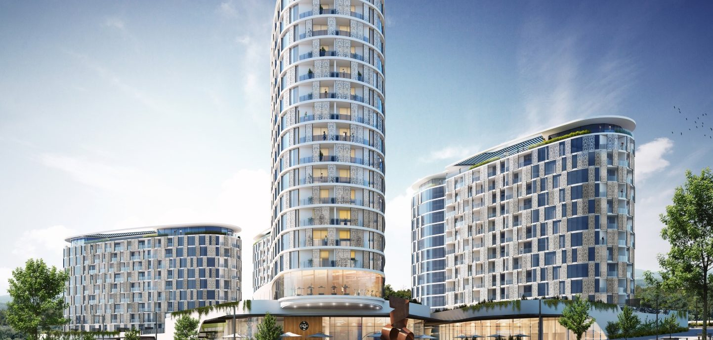 dhk reveals residential design comprising four elliptical towers